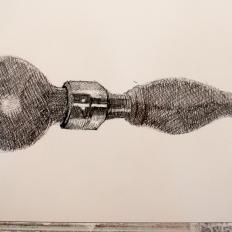 Maral Bolouri 'Untitled' Photocopy transfer, Pen, Watercolour, Paper